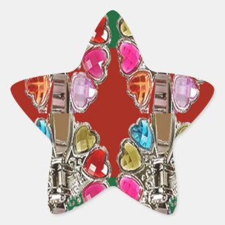 CULTURE Theme Wedding Jewel Colorful USA NewJersey Star Sticker
