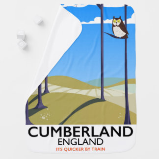 Cumberland, England vintage style travel poster. Baby Blanket