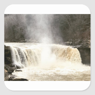 Cumberland Falls Big South Fork Kentucky Square Sticker