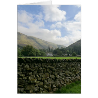 Cumbrian Dry Stone Wall at Howtown Card