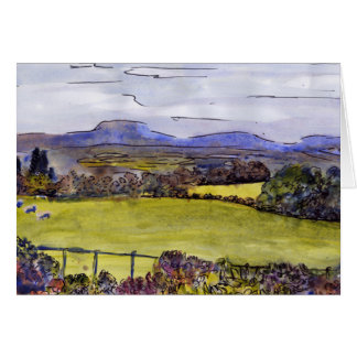 Cumbrian landscape - blank greetings card