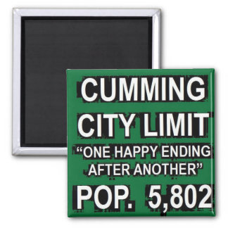 Cumming Georgia Funny City Limit Sign Magnet