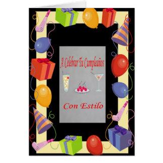 Cumpleaños con estilo card