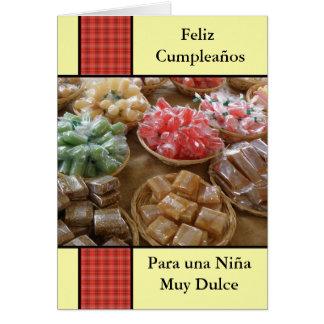 Cumpleaños para una niña dulce card