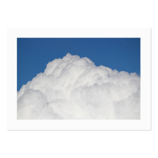 Cumulus Cloud Bordered Business Card