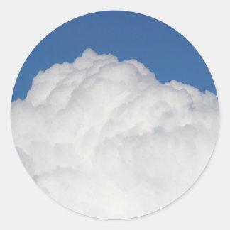 Cumulus Cloud Round Sticker