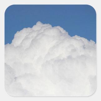 Cumulus Cloud Square Sticker