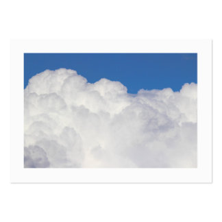 Cumulus Clouds Bordered Business Cards