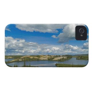 Cumulus clouds float above lakes, Northwest iPhone 4 Case-Mate Cases