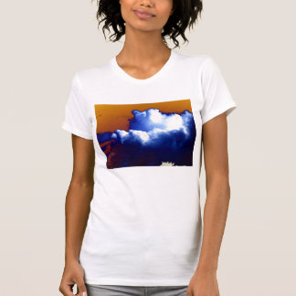 Cumulus congestus Surrounded By Storm With Orange T-Shirt