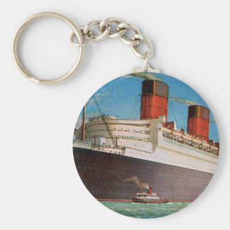 Cunard White Star Line's Queen Mary Basic Round Button Key Ring
