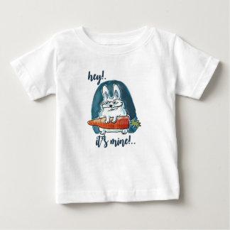 cunning rabbit holds carrot funny cartoon baby T-Shirt