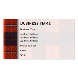 Cunningham clan Plaid Scottish tartan Pack Of Standard Business Cards