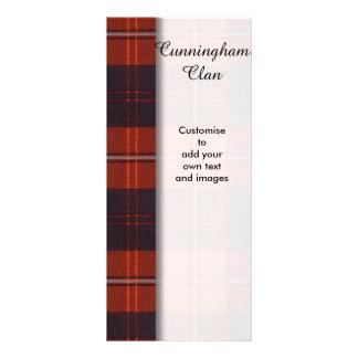 Cunningham clan Plaid Scottish tartan Full Color Rack Card