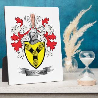 Cunningham Family Crest Coat of Arms Plaque
