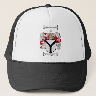 CUNNINGHAM FAMILY CREST -  CUNNINGHAM COAT OF ARMS TRUCKER HAT