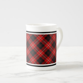 Cunningham Family Tartan Red and Black Plaid Tea Cup