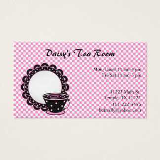 Cup and Saucer Tea and Coffee Business Card