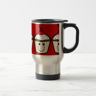 Cup-cake-2 HAPPY CHOCOLATE CUPCAKE CHERRY TOP ICIN Mug