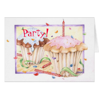 Cup Cake Birthday, Card