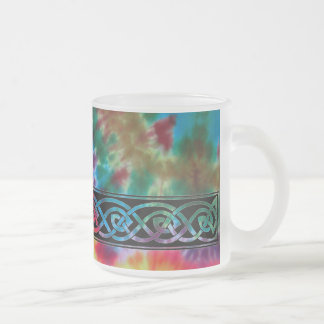 Cup, Celtic knot, batik Design Frosted Glass Coffee Mug