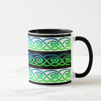 Cup, Celtic knot, black and white, multicolored Mug