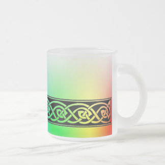 Cup, Celtic knot, rainbow Design Frosted Glass Coffee Mug