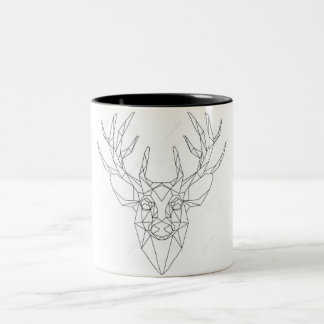 Cup coffee or tea lowpoly reindeer/maple