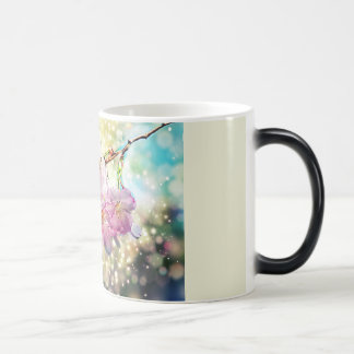 Cup. Flowers, apple blossoms, cherry blossoms Magic Mug
