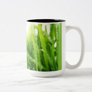 Cup fresh grass. Fresh grass mug