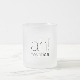 Cup Helvetic typography