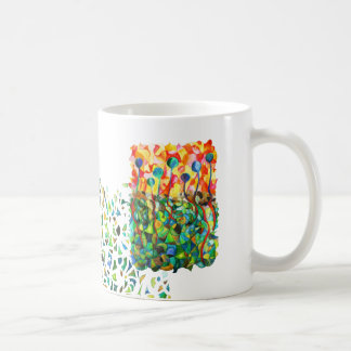 Cup multicolored mosaic puzzle