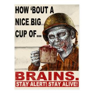 Cup of Brains Postcard