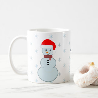 Cup of Christmas with three snow men