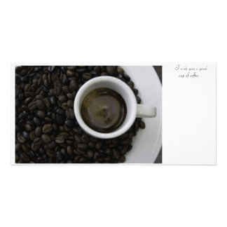 Cup of coffee/Cup of coffee Photo Card Template