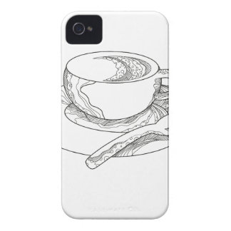 Cup of Coffee Doodle iPhone 4 Case