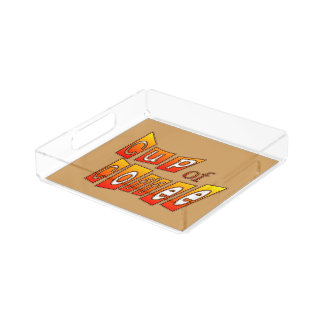 Cup of Coffee Nice Lettering Small Square Tray