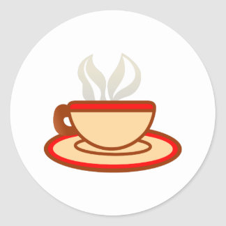 Cup Of Coffee Round Sticker