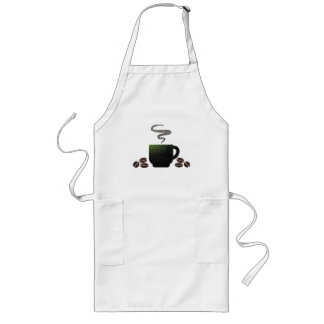 Cup of Coffee with Beans Long Apron