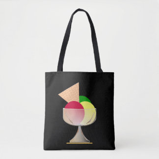 Cup of ice-cream tote bag