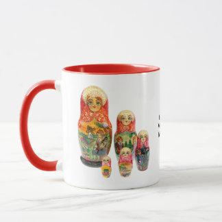 Cup of Matrjoschka, Matryoshka, babushka,