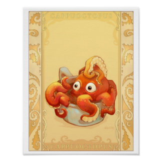Cup of Octopus Posters