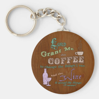 Cup of Serenity Basic Round Button Key Ring