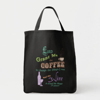 Cup of Serenity Grocery Tote Bag