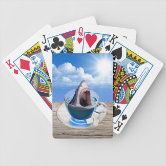 Cup of tea bicycle playing cards