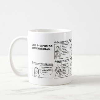 Cup of types of nurses