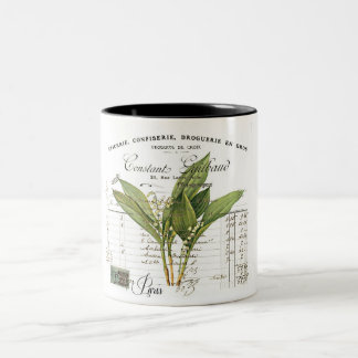 Cup of Vintage, Retro Design lily of the valley