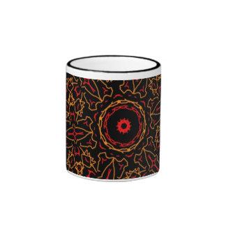 Cup ornamentation black/red ringer mug