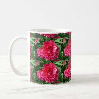 Cup red bloom tiled coffee mugs