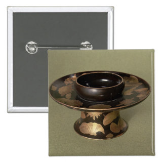 Cup stand with 'Nashiji' decoration 15 Cm Square Badge
